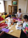 Youngsters in recycled craft workshop